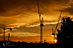 Glebe Sunset (Rohan Anderson Photography) Tags: park light sunset sun storm clouds canon photography is construction sydney harold australia cranes formation anderson 5d 70200 development f28 glebe rohan 70200mm mkiii mk3