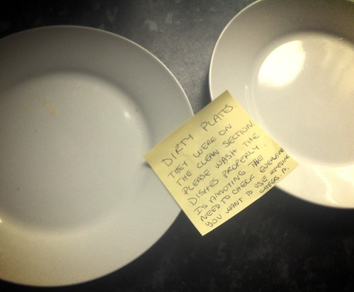 DIRTY PLATES They were on the clean section. Please wash the dishes properly. Is annoying the need to check every time you want to use something. Cheers. A.