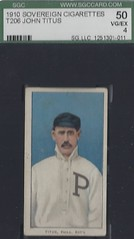 T206 John Titus - Philadelphia (National) 1909-1911 (Mustache) - Sovereign 350 Back -  Tobacco / Cigarette Baseball Card (WhiteRockPier) Tags: vintage cigarette mustache tobacco whiteborder baseballcard t206