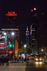 The New Yorker Hotel, Empire State Building and 34th Street (NYCNYC) Tags: newyorker empirestatebuilding newyorkerhotel