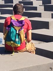 Berlin by Muriel FRANCIUS - July 2013 (Muriel FRANCIUS) Tags: man color berlin concrete grey memorial jude blocks beton