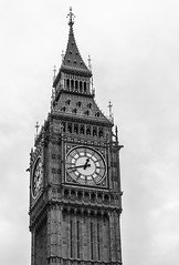 Big Ben in Black and white, London - Explored! Thank you!