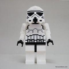 nanoblock Stormtrooper (inanoblock) Tags: star starwars lego bricks disney lucas jedi stormtrooper blocks wars minifig build darkside minifigure nanoblock  nanoblocks