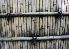 Weathered Bamboo (fantommst) Tags: japan fence silver temple kyoto bamboo worn weathered fencing pavillion ginkakuji jishji