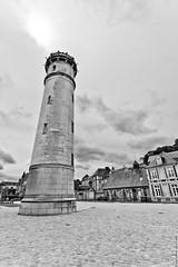 Honfleur - 2013 (Nicolas Chauffaille) Tags: sky blackandwhite bw cloud tower landscape blackwhite honfleur canon1740l canoneos5d 17mmf80