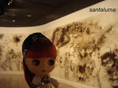 """Aisha na exposição """"Da Vincis do povo"""""""