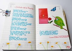 Detrás de la Puerta / Behind the Door (Milagritos9) Tags: flowers rose butterfly puerta sketchbook perú reddoor daisy visualjournal mariposa moleskinerie birdportrait mily artistjournal visualdiary milagritos birdillustration behindthedoor moleskinejournals moleskineproject journalhandwriting cubantody moleskinedrawing illustratedsong birdjournal inspirationaljournal dibujodepájaro margaritasflores milycha diarioilustrado dibujodeave spiritualjournal canciónilustrada agendailustrada moleskineartpages todybird cuadernoillustrado ilustracionesmoleskine moleskinediary2013 susanabacaillustratedsong detrásdelapuertacanciónilustrada pajaritocubano