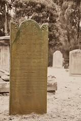 Anne - Wife (Long Road Photography (formerly Aff)) Tags: bw white black grave sepia port dead arthur nikon rip headstone tasmania isle the d90 18105mm ipiccy