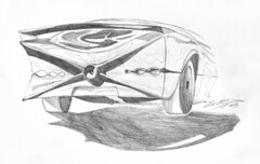 1955 (iastudio) Tags: shadow bw detail glass car wheel illustration pencil drawing rear supercar pencildrawing carback rearlight cardetail marzano carspoiler carrear draw365