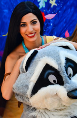 Pocahontas and Meeko (EverythingDisney) Tags: disneyland disney dlr pocahontas princesses meeko longlostfriends limitedtimemagic