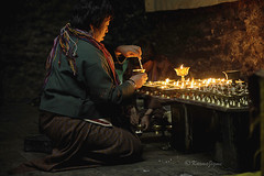 108 Butter Lamps (karmajigme) Tags: lights nikon asia bhutan lumière religion offering lamps lampes offrande d700