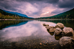 Heaven on Earth (Brian Xavier) Tags: longexposure clouds photography hiking fallcolors lakes nobody nopeople boulders photographicart filters cloudysky clearwater cascademountains copyrighted rattlesnakelake leadingline blinkagain bxavier bxphoto brianxavierphotography brianxavier bxfoto bxfotocom copyrightbrianxavier leadingrocks