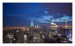 Top of the rock (Mehul Photographer) Tags: nyc sunset newyork dawn cityscape empirestate topoftherock mehulphotographer