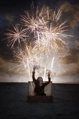 Spark (lifecapturedbyneen) Tags: beach coast fireworks longhair trunk raglan spark fineartphotography whimsicalart conceptualphotography fairytalephotography