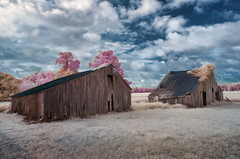 Two Barns (shutterclick3x) Tags: ir countryside infrared backroads fauxcolor frankloose
