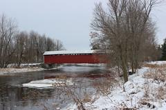 Des Rivières Covered Bridge Notre-Dame Stanbridge, Qc (pegase1972) Tags: montérégie monteregie québec quebec canada qc winter hiver neige snow coveredbridge explore explored