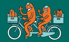 workcycles_shirt_fr8_tandem_vb - Version 2 (@WorkCycles) Tags: amsterdam bike shirt design hoodie cargo sweatshirt worms bakfiets workcycles