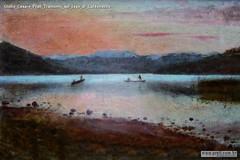 Giulio Cesare Prati Tramonto sul lago di Caldonazzo