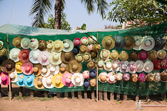 Hats (noobographer) Tags: shop wall colorful asia sale hats stall tourist hanging colourful angkor sell colorfu