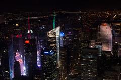 New York Skyline at Night (Matthew Proffitt) Tags: city newyork skyline night 50mm us nikon cityscape manhattan timesquare empirestatebuilding empirestate hudson nikkor rockefeller vignette nikond600