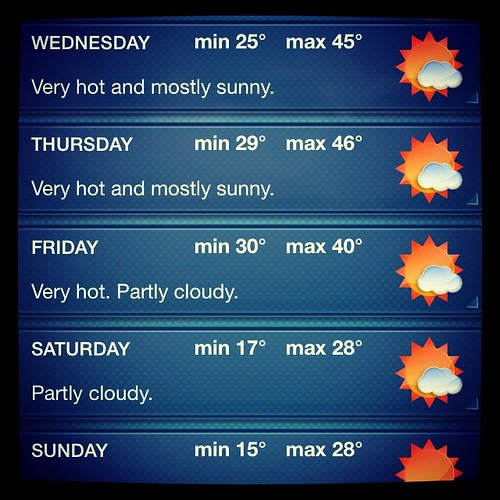 @_joshuapeter - we've been upgraded to first class heat wave. I may die. Nice knowin' ya. Xxxx