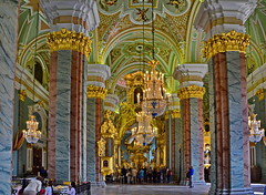 Peter and Paul Cathedral: the interior (Yvon from Ottawa) Tags: church stpetersburg woodwork cathedral russia gilded fortress peterandpaul woodcarvings rivercruise frescoes uniworld rivervictoria imperialwaterwaysofrussia