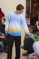 20140202__MG_4842_Yarn_To_Garment (Pat Kilkenny) Tags: ohio color wool fashion yarn fabric weaving weave oberlin garment 2014 oberlincollege 13thannual betsybruce yarntogarment