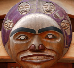 CARVED MASK WITH COPPER EYES  -WICKANINNISH INN, TOFINO, VANCOUVER, BC (vermillion$baby) Tags: pacificnorthwest wickaninnishinn art carving curve mask native red round sculpture sphere tofino vancouverisland wood woodcarved international indian firstnation westcoast carve pacific firstnations abstract canada artf flickr woodcarving totem nativef aboriginal p artsculpture artofnorthamerica artofnativenorthamerica museum museums artofthenative nativeamerican gallery aborigine mortuarypole