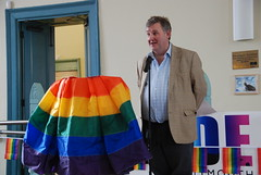 "Oliver Colvile adressing attendees at Plymouth Winter Pride 2014 • <a style=""font-size:0.8em;"" href=""http://www.flickr.com/photos/66700933@N06/12426004764/"" target=""_blank"">View on Flickr</a>"