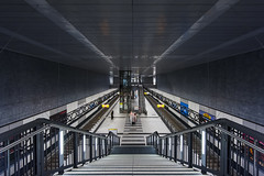 Berlin Underground (Blende1.8) Tags: berlin stairs underground subway nikon metro symmetry treppe hauptbahnhof ubahn mainstation symmetrie 1635mm d700 bestcapturesaoi elitegalleryaoi