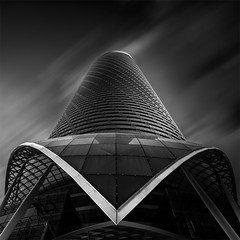 Modern Light - V (Waheed Akhtar Photography) Tags: longexposure blackandwhite bw building architecture clouds canon united fineart uae landmark emirates abudhabi arab bwphotography fineartphotography blackandwhitephotography