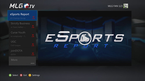 MLG App lands on the Xbox 360 today