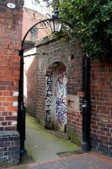 gas street basin alleyway (downhamdave) Tags: street uk england urban west canon eos graffiti birmingham alley raw arch decay sigma basin gas alleyway midlands eyesore 1000d elements10