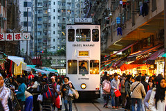 135 (TommyYeung) Tags: life street city people urban hongkong track market streetphotography tram 香港 tramway northpoint hongkongisland peakhour hongkongtramways isabelmarant streetrailway lovelycity