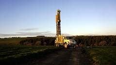 Truck mounted water well drilling rig. (P i a :)) Tags: ireland truck mounted farmer tralee waterwell ardfert drillingrig