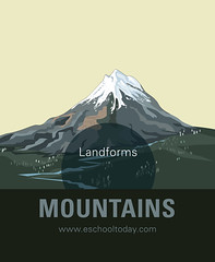 What is a Mountain landform for kids (Learn something new today) Tags: landform mountain everest highmountains children learningmountains