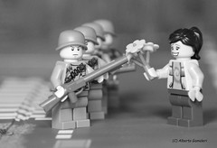 The Flower and the Bayonet (alby83) Tags: lego peace war soldier army vietnam flower