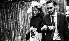 One Love. London (M.DStreets) Tags: amateur black white mono monochrome street candid london mdstreets ascot races couple love girl mirrorless noir hat travel urban contrast faces happy bnw blackwhite portrait people
