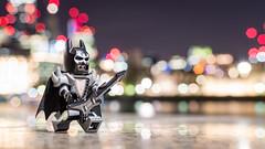 "Project Story 1/3: The Introduction, ""I'm Batman!"" (Reiterlied) Tags: 18 35mm batman d500 dslr guitar lego legography lens london minifig minifigure night nikon photography prime reiterlied rocknroll stuckinplastic toy"