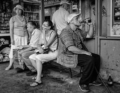 (Alex Cruceru) Tags: 2015 beer blackwhite blackandwhite bucharest busstation bw candid finepix fuji fujifilm fujix100s kane lightroom mirrorless moments mono monochrome monochromephotography observer outdoor romania story stradal street streetphotography streettogs urban women x100s xseries