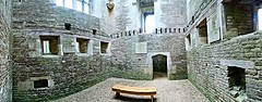 Panoramic inside the hall (eucharisto deo) Tags: lvyeden new bield nt national trust northamptonshire sir thomas tresham elizabethan catholic 1605 architecture panoramic panorama seat ruin ruined unfinished