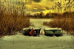 BOOTE (Gila98) Tags: boote see wasser winter schnee gefroren kalt kälte schnappschuss natur wolken sonne sunset