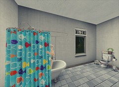 Shower Time! (Alicia Chenaux - Ch'Know Blogs) Tags: secondlife secondlifeliving virtualworld shower morning morningroutine