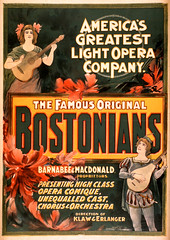The Bostonians (PrimeVintage1) Tags: opera bostonians vintagetheaterposter