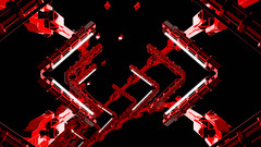 Red Giant 06 Looping Animation (globalarchive) Tags: seamless electric pattern art dj tunnel party scifi fiction fractal power futuristic effects driven dream giant animation cool science render energetic awesome experiment high amazing bpm concept abstract animated digital looping virtual best red lights strobe modern contrast imagination rhythmic geometric sci 3d loop design fi creative sync energy tempo