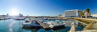 Panorama of Marina de Faro