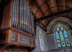 An English Country Church (Mike Hewson) Tags: church kent cooling stjames window organ interior architecture panasonic lumix gx8 leicasummilux15mm micro43 microfourthirds