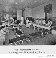 Cooking and Homemaking room  Vocational School  circa 1915  albany ny (albany group archive) Tags: early 1900s