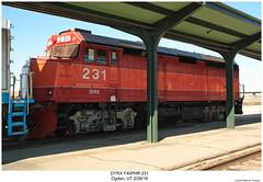 DYRX F40PHR 231 (Robert W. Thomson) Tags: dyrx dynamicrailpreservation amtk amtrak emd diesel locomotive fouraxle f40 f40ph f40phr train trains trainengine railroad railways ogden utah