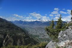 vue sur Sion (bulbocode909) Tags: valais suisse nax viaferrata montnoble belvédère montagnes nature printemps arbres vert bleu nuages paysages sion plainedurhône
